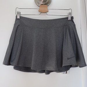 Nike Dri-fit Gray Athletic Skirt w Built-in Shorts